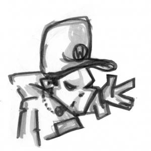 Cartoon - Figur - Hip Hopper