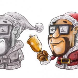 Cartoon - Figur - Weihnachtsmann