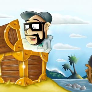 Illustration - Schatzinsel und Segelschiff