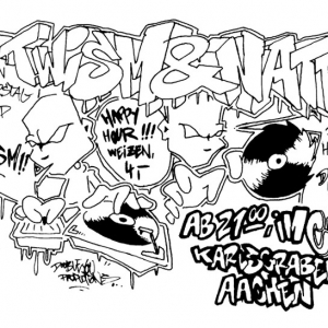 Illustration - Party-Flyer Hip Hop
