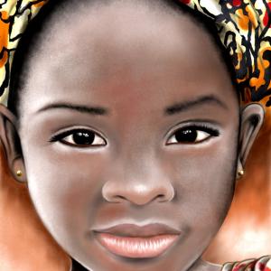 Illustration - Portrait - Afrikanisches Mädchen